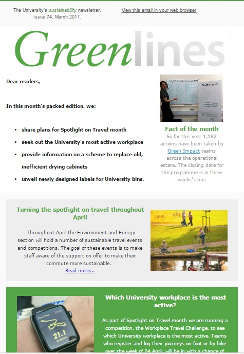 Greenlines March Edition