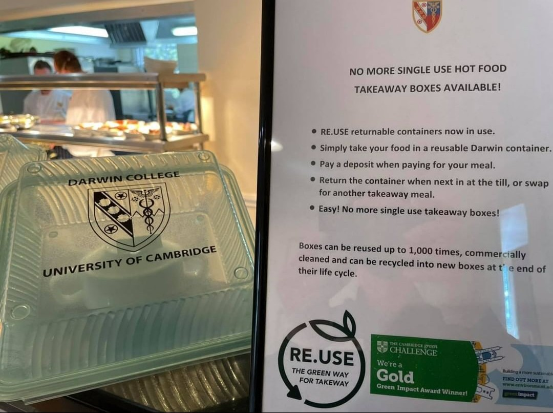 Darwin College Reusable Takeaway containers